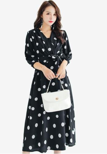 Shopsfashion black Polka Dot Midi Dress E97EBAA7106514GS_1