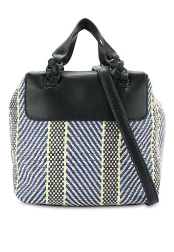 ZALORA multi Braided Handles Woven Bag B018DZZ0584D02GS_1