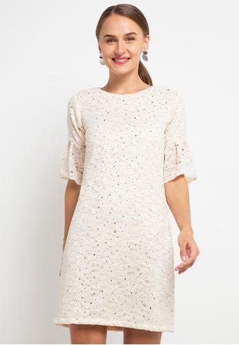 CHANIRA LA PAREZZA white Chanira La Parezza Sofia Lace Dress C893CAAA62D7ACGS_1
