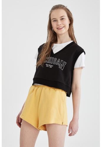 DeFacto yellow Sporty Cotton Short 99E9FAABDFF4D3GS_1