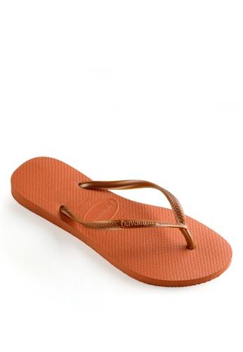 Havaianas orange Slim Flip Flops 2B8E6SH943424AGS_1