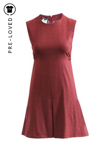 Aquascutum red Pre-Loved aquascutum Wool Pleated Dress AE8C8AA8D446D3GS_1