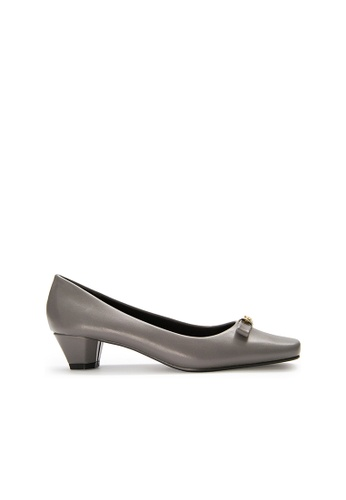 SEMBONIA grey SEMBONIA Synthetic Leather Court Shoe (Light Grey) 26E30SHFAACFE7GS_1