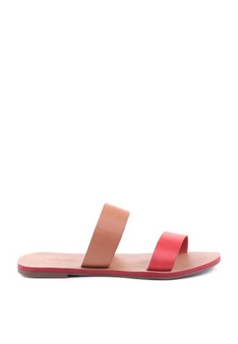 Anacapri 多色 條紋平底涼鞋 4D2DFSH68E0742GS_1