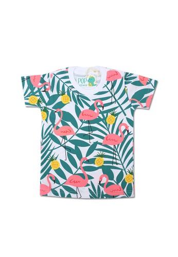 Pop Kidswear white Pop Kidswear Flamingo Kids Tee 1BE4DKA48035F9GS_1