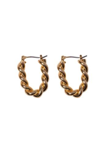 SKEDA gold Short Rope Hoop Earrings EB2D0AC2412388GS_1