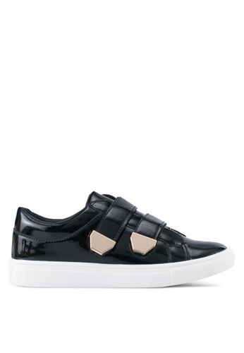 addicts anonymous black Elizabeth Metallic Velcro Sneakers AD479SH0SR5UMY_1