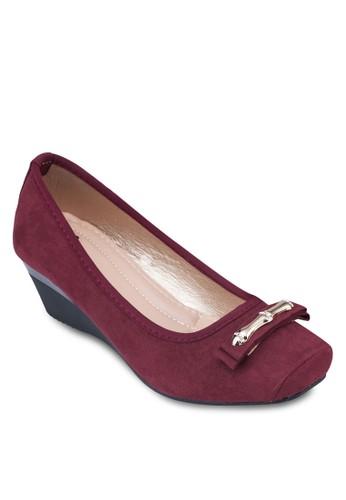 金條方頭楔跟娃zalora退貨娃鞋, 女鞋, 鞋