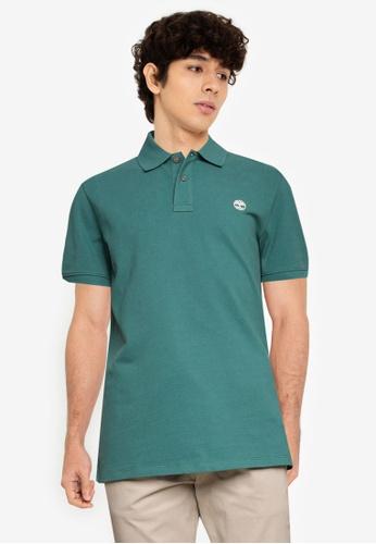 Timberland 綠色 AF Millers River Pique Regular Polo 襯衫 5D4E5AA0E3E8D4GS_1