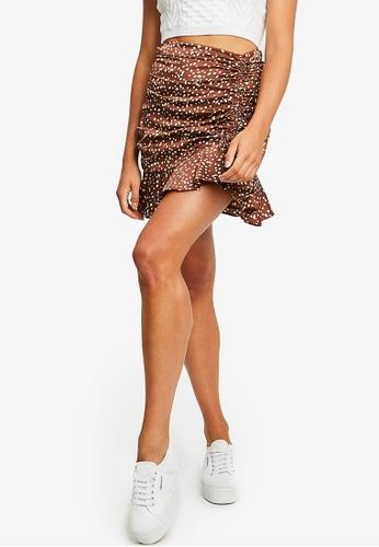 Calli brown Georgia Mini Skirt CA676AA1698A65GS_1