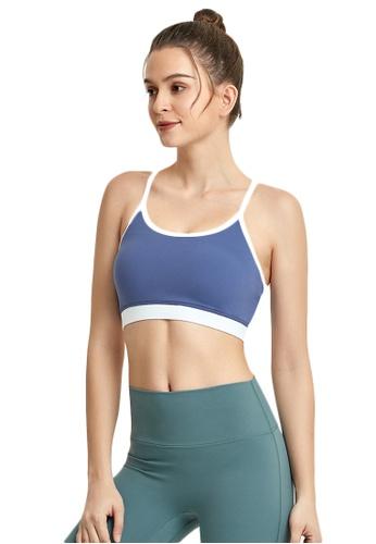 B-Code blue ZWG7016Lady Quick Drying Running Fitness Yoga Sports Bra -Blue 2AC5DUS1E6E698GS_1