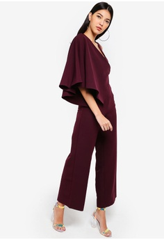 71e9bdd7a33c 66% OFF Lavish Alice Draped Sleeve Wide Leg Jumpsuit S  150.90 NOW S  51.90  Sizes 6