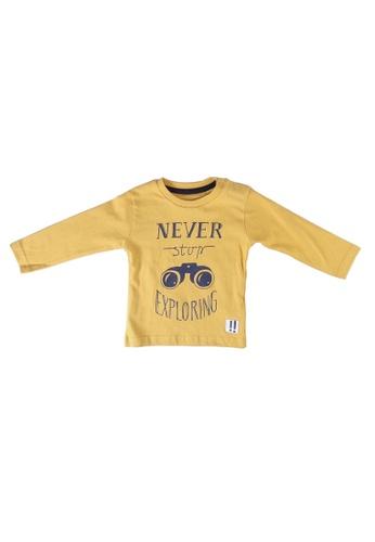 Babybol yellow Print T-Shirt 62832KA0BDB923GS_1