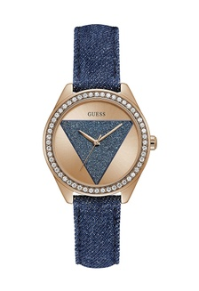 Jual Guess Watch Guess Jam Tangan Wanita - Blue Gold - Leather Strap ... ae9b9254ad