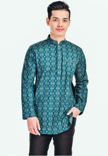 UA BOUTIQUE green Kurta Batik KLB01-071 (Green Turqoise) 0BD0FAADB72839GS_1