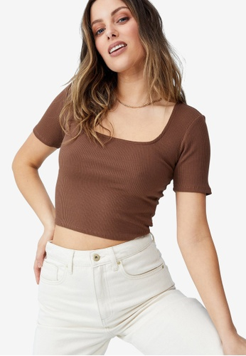 Cotton On multi Essentials Square Neck Tee 21A05AA5C51F9AGS_1