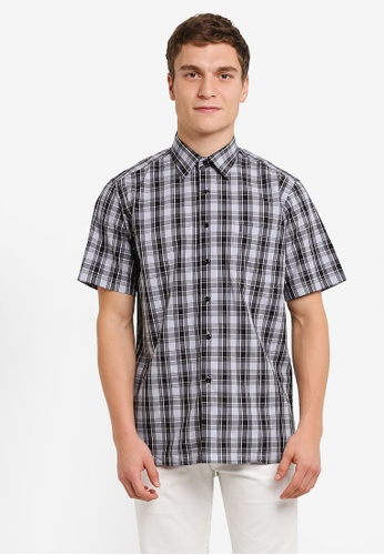BGM POLO blue Checkered Short Sleeve Shirt BG646AA0S0KPMY_1