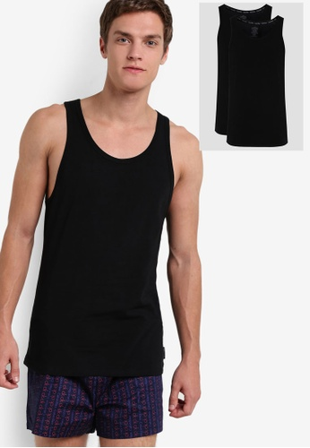 Calvin Klein black 2 Pack Tank - Calvin Klein Underwear CA221US08DEPMY_1