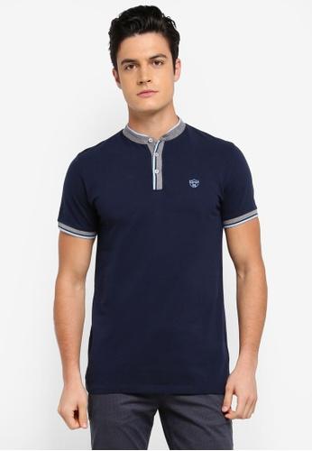 ESPRIT blue Short Sleeve Polo Shirt E9F82AA3827A99GS_1
