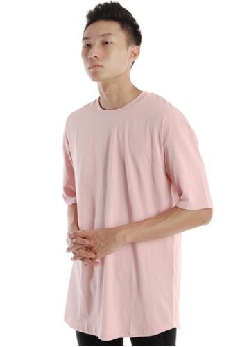 Praise pink Short Sleeves Oversized T-shirt PR067AA92HODSG_1