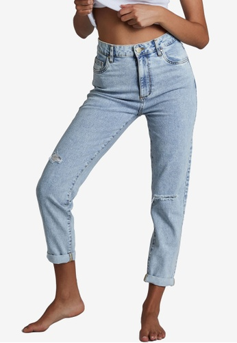 Cotton On blue Stretch Mom Jeans 07AE5AA4F0C96BGS_1