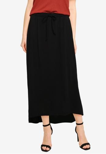 JACQUELINE DE YONG black Dalila Life Frosty Long Skirt DB37EAA00F4B2DGS_1