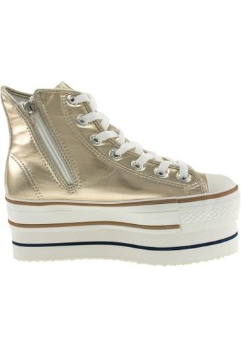Maxstar gold Maxstar Women's CN9 7 Holes Double Platform PU High Top Sneakers US Women Size MA164SH19PPSSG_1
