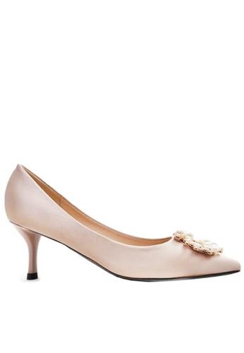 Twenty Eight Shoes 綢緞珍珠扣婚鞋 208-11 201E9SHE3B38F6GS_1