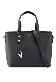 0cc3616b1c7 VINCCI black Faux Leather Shoulder Bag A99A2AC459A43CGS 1