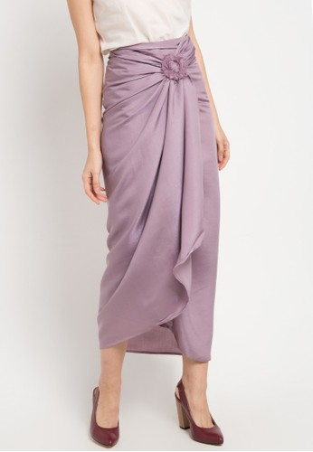 LUIRE by Raden Sirait purple and multi Dc-Skirt 35471AA1F612DCGS_1