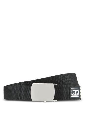 OBEY black Big Boy Web Belt OB162AC0S9KGMY_1