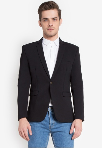 shop well suited skinny fit short suit jacket online on zalora
