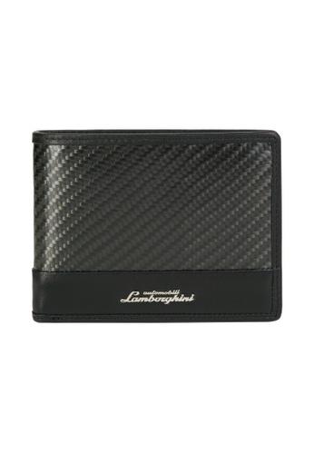 Lamborghini black Automobili Lamborghini® Techno Black Wallet with coin purse 704B9ACE1E95D9GS_1