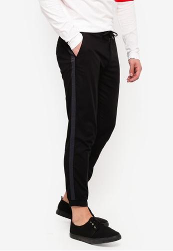 ESPRIT 黑色 側邊細節素色褲子 1FA98AA5461D44GS_1