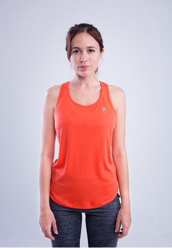 AMNIG orange Amnig Women Flex Slim Racer Back Tank Top 7C393AA83D7D8FGS_1