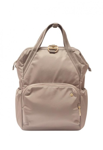 Pacsafe brown Citysafe Cx Backpack Blush Tan 1304FAC1BCA30EGS_1