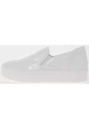 Maxstar Maxstar C7 Span PU Synthetic Leather White Platform Slip on Sneakers (30) US Women Size MA168SH48USXHK_1