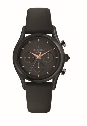 TRUSSARDI black Trussardi T-Light 43mm Black Dial Men's Quartz Watch R2451127008 16065AC898776DGS_1