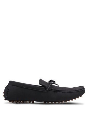 UniqTee black Casual Slip On with Lace A7E38SHA896561GS_1