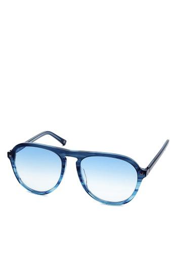 HEX EYEWEAR blue and navy Explorer - Leif E. - Sunglasses - Italy Design HE671AC2V1LFHK_1