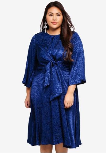7df5dc79c85e Shop Eloquii Plus Size Woven Knot Dress Online on ZALORA Philippines