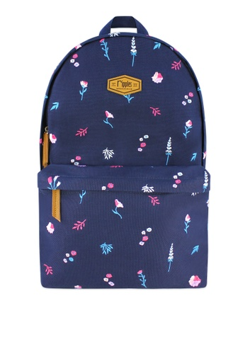 Ripples blue Alyssa Floral Embroidery Canvas Backpack B8679ACF886BA1GS_1