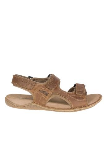 Hush Puppies brown Rawson Grady Casual Sandals HU326SH53TRQPH_1