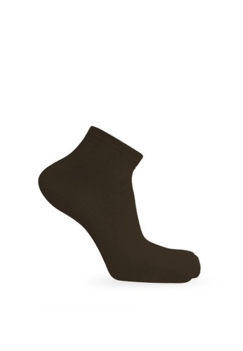 SOXGALERI brown Sox Galeri Cotton Ankle Women Socks - Solid Colour 6F6FEAA2FBD249GS_1