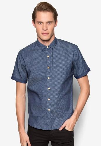 印花zalora是哪裡的牌子短袖襯衫, 服飾, 襯衫