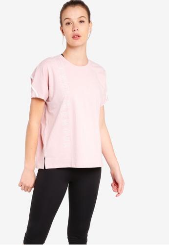 Under Armour pink Lighter Longer Short Sleeve Graphic Tee E7C0DAA9F43A18GS_1