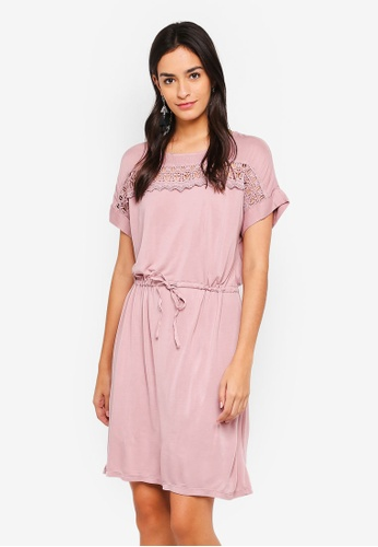 Vero Moda pink Elin Mix Dress 300D2AA3D38804GS_1