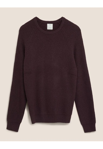 MARKS & SPENCER M&S Recycled Super Soft Crew Neck Jumper 1B04CAAC2F1C69GS_1