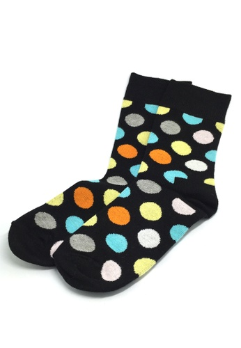 Splice Cufflinks multi Speckle Series Multi Colour Polka Dots Navy Blue Socks SP744AA73JBMSG_1