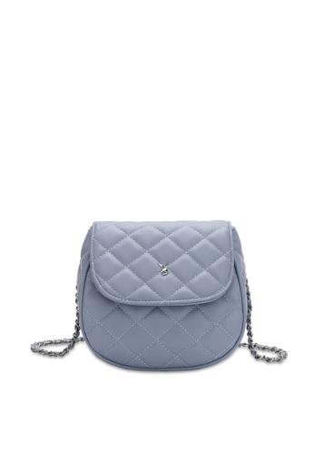 PLAYBOY BUNNY blue Women's Sling Bag / Shoulder Bag / Crossbody Bag 344E9ACDF2EB35GS_1